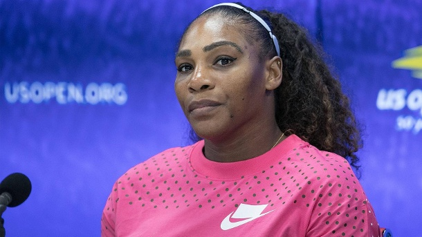 """I Touch Myself"": Serena Williams wirbt oben ohne für Brustkrebsvorsorge. Serena Williams, hier bei einer Pressekonferenz bei den US Open. (Quelle: imago images/ZUMA Press)"