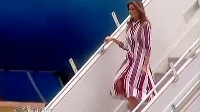 Erster Solo-Trip führt First Lady Melania nach Afrika (Quelle: Screenshot Reuters)