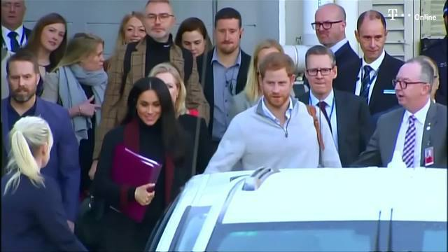Meghan Markle und Prinz Harry erwarten ein Baby (Screenshot: Reuters)