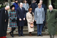 Weihnachten 2017: Der erste Auftritt mit der Royal Family für Meghan Markle vor dem Gottesdienst in Sandringham. (Quelle: Chris Jackson/Getty Images)