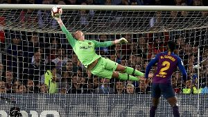 October 20 2018 Barcelona Catalonia Spain ter Stegen does stop the ball during the week 9 of