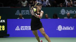 Angelique Kerber in Aktion gegen Naomi Osaka.