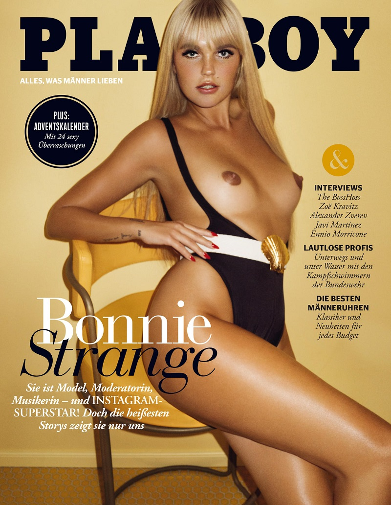 "Bonnie Strange ziert das ""Playboy""-Cover. (Quelle: Kate Bellm/Playboy)"