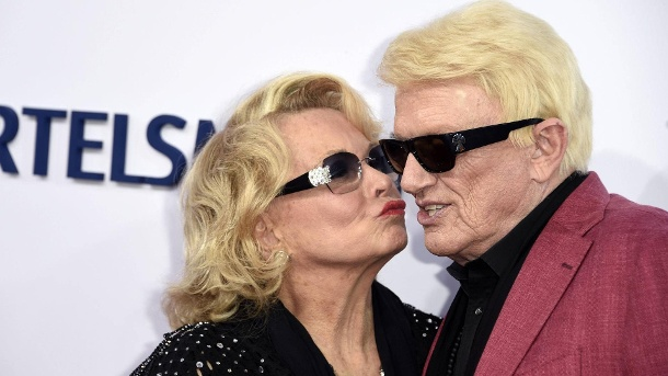 Heino and wife Hlanore: This couple commemorated their 39th wedding anniversary on April 4, 2018. (Source: F. Kern / Future Image / imago)