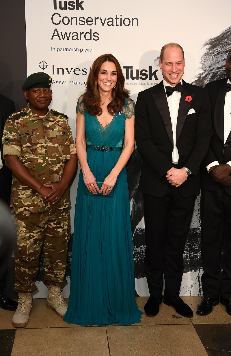 Tusk-Conservation-Awards 2012: Kate und William posieren für die Presse. (Quelle: Jeff Spicer - WPA Pool/Getty Images)