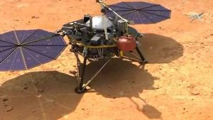 Animation zeigt wie Mars-Sonde 'InSight' landen soll (Screenshot Reuters)