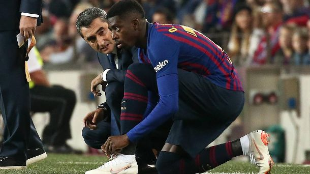 Rat vom Trainer: Ernesto Valverde kämpft um Top-Talent Ousmane Dembélé. (Quelle: imago/ZUMA Press)