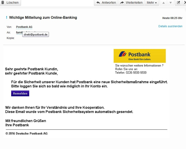Postbank Phishing (Quelle: imago images/Leo)