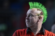 "Peter Wright. Spitzname ""Snakebite "". (Quelle: imago images/CTK Photo)"