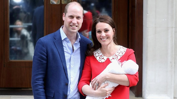 Prinz William und Herzogin Kate: Hier nach der Geburt von Prinz Louis im April 2018 vor dem Lindo Wing.  (Quelle: Chris Jackson/Getty Images)