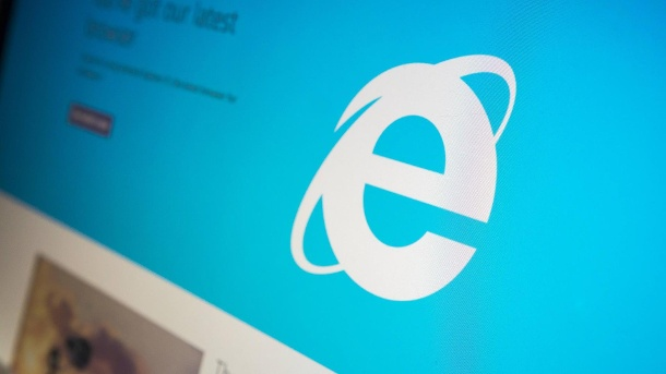 "Microsoft-Top-Manager warnt vor Internet Explorer. Logo des Microsoft Explorers: Der Nachfolger ""Edge"" konnte Nutzer nicht überzeugen (Quelle: imago/Richard B Levine)"