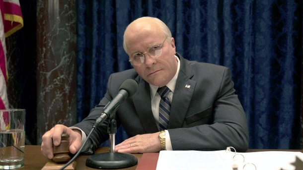 "Christian Bale als Dick Cheney in dem Film ""Vice - Der zweite Mann"". (Quelle: dpa / Matt Kennedy)"