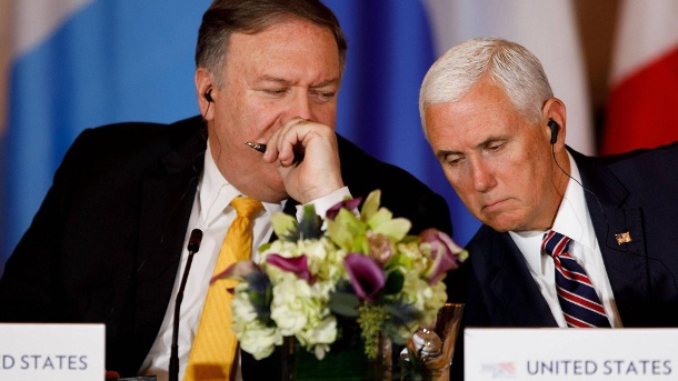 Mike Pompeo, Mike Pence. (Quelle: imago)