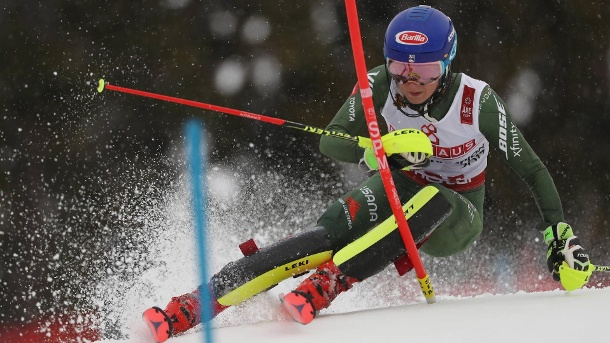 Ski-WM: Mikaela Shiffrins Gold-Serie im Slalom geht weiter. Medaillensammlerin bei der WM: Mikaela Shiffrin gewann in Are nach dem Super-G auch den Slalom. (Quelle: imago/GEPA pictures/ Andreas Pranter)