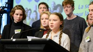 Swedish 16 years old climate activist Greta Thunberg and Annuna De Wever Adelaide Charlier Kyra Ga