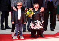 "Princess Gabriella and Prince Jacques arrive for the inauguration of the new Luxury complex the ""One Monte - Carlo"" in Monaco (Quelle: Reuters)"
