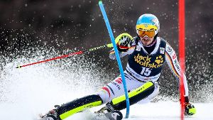 Felix Neureuther auf der Piste in Kranjska Gora.