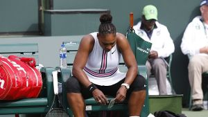 Serena Williams musste in Indian Wells aufgeben.