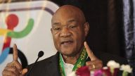 US former boxer George Foreman delivers a press conference PK Pressekonferenz in Mexico City Mexic
