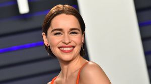 Emilia Clarke arriving at the Vanity Fair Oscar Party in Beverly Hills California Feb 24 2019