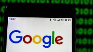 January 16 2019 Kiev Ukraine Google Technology company logo seen displayed on a smart phone K