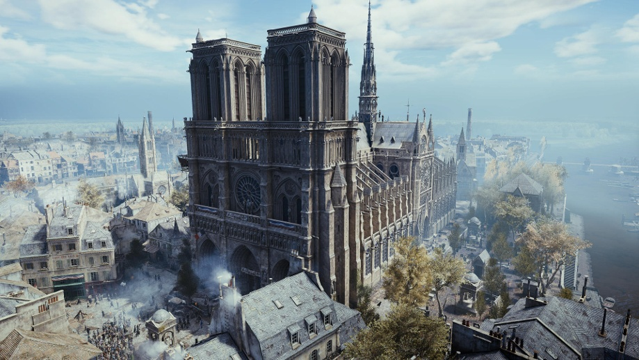 """Die Notre-Dame in """"Assassin's Creed Unity"""". (Quelle: UbisoftUbisoft)"""