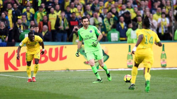 01 GIANLUIGI BUFFON PSG FOOTBALL Nantes vs Paris SG Ligue 1 Conforama 17 04 2019 AnthonyBIBA (Quelle: Imago)