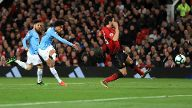 Manchester United ManU v Manchester City Premier League Old Trafford Manchester City s Leroy Sa