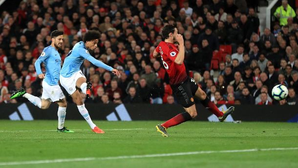 Manchester United ManU v Manchester City Premier League Old Trafford Manchester City s Leroy Sa (Quelle: Imago)