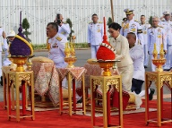 Hommage an den früheren König Thailands Rama V. (Quelle: imago images/Thai TV Pool)