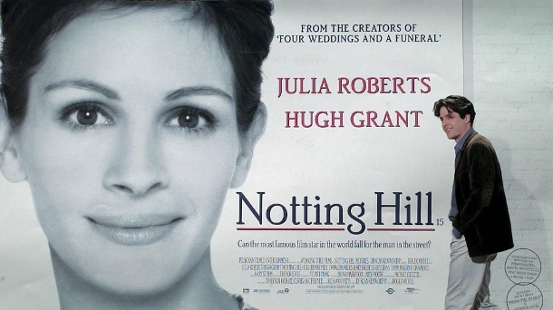 "Filmklassiker ""Notting Hill"": So haben sich die Stars verändert. ""Notting Hill"": Der Film mit Julia Roberts und Hugh Grant in den Hauptrollen kam 1999 in die Kinos. (Quelle: imago images/United Archives )"