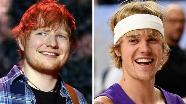 Instagram-Hit: Justin Bieber und Ed Sheeran starten durch. Ed Sheeran (l.