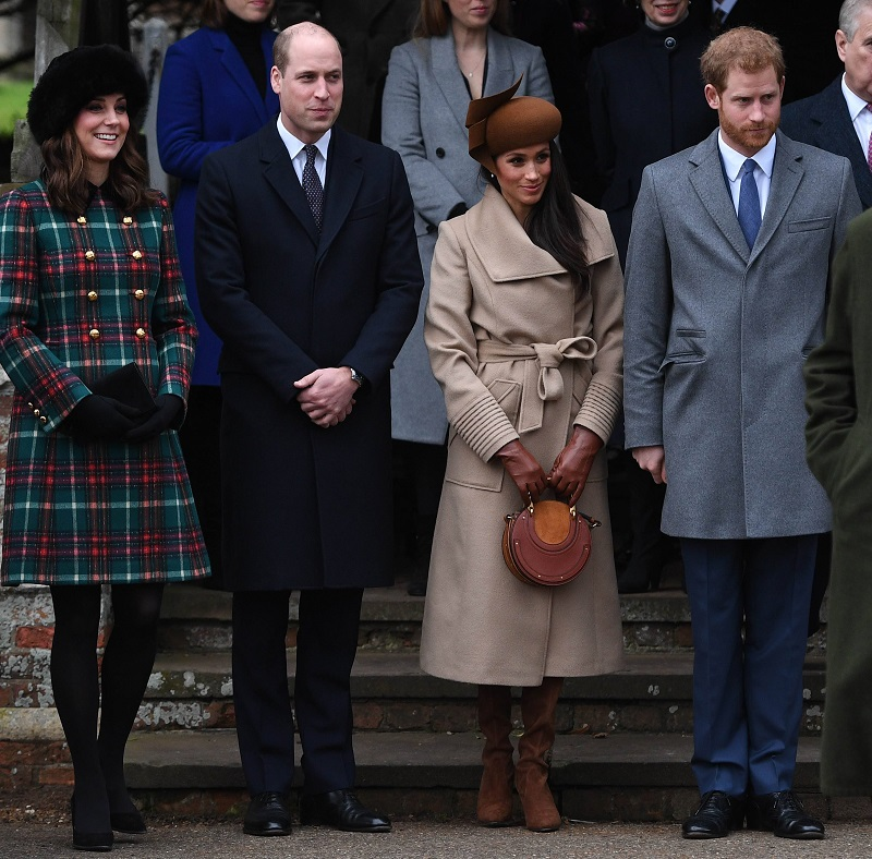 "Die ""Fab Four"": Herzogin Kate, Prinz William, Herzogin Meghan und Prinz Harry. (Quelle: imago images)"