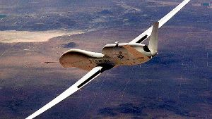 The Air Force's Global Hawk Unmanned Aerial Vehicle Makes Aerospace History As The First