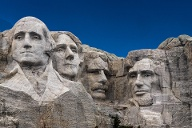 Mount Rushmore, Taken from entrance sidewalk. (Quelle: Getty Images)