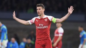 April 18 2019 Naples Naples Italy Laurent Koscielny of Arsenal during the UEFA Europa League