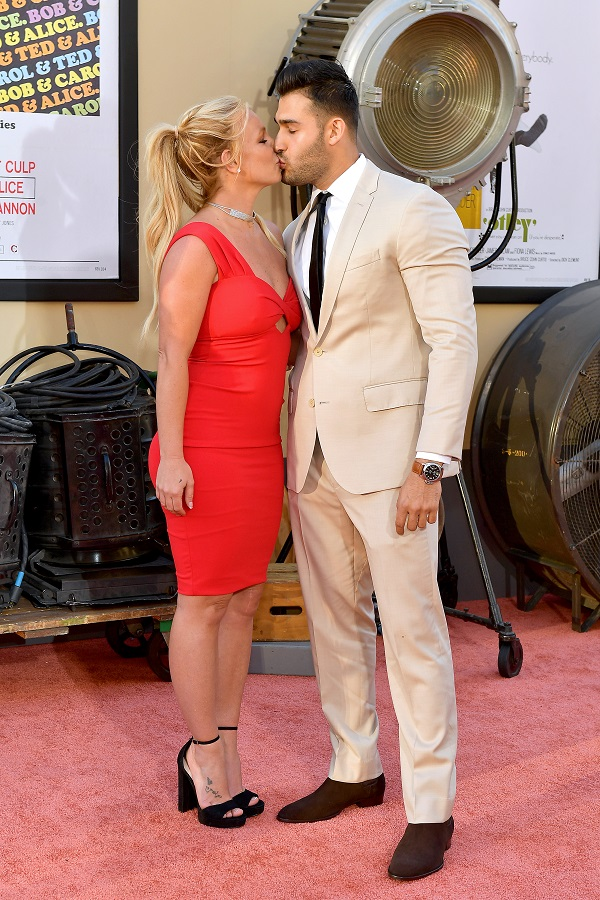 Britney Spears und Sam Asghari (Quelle: Matt Winkelmeyer/Getty Images)