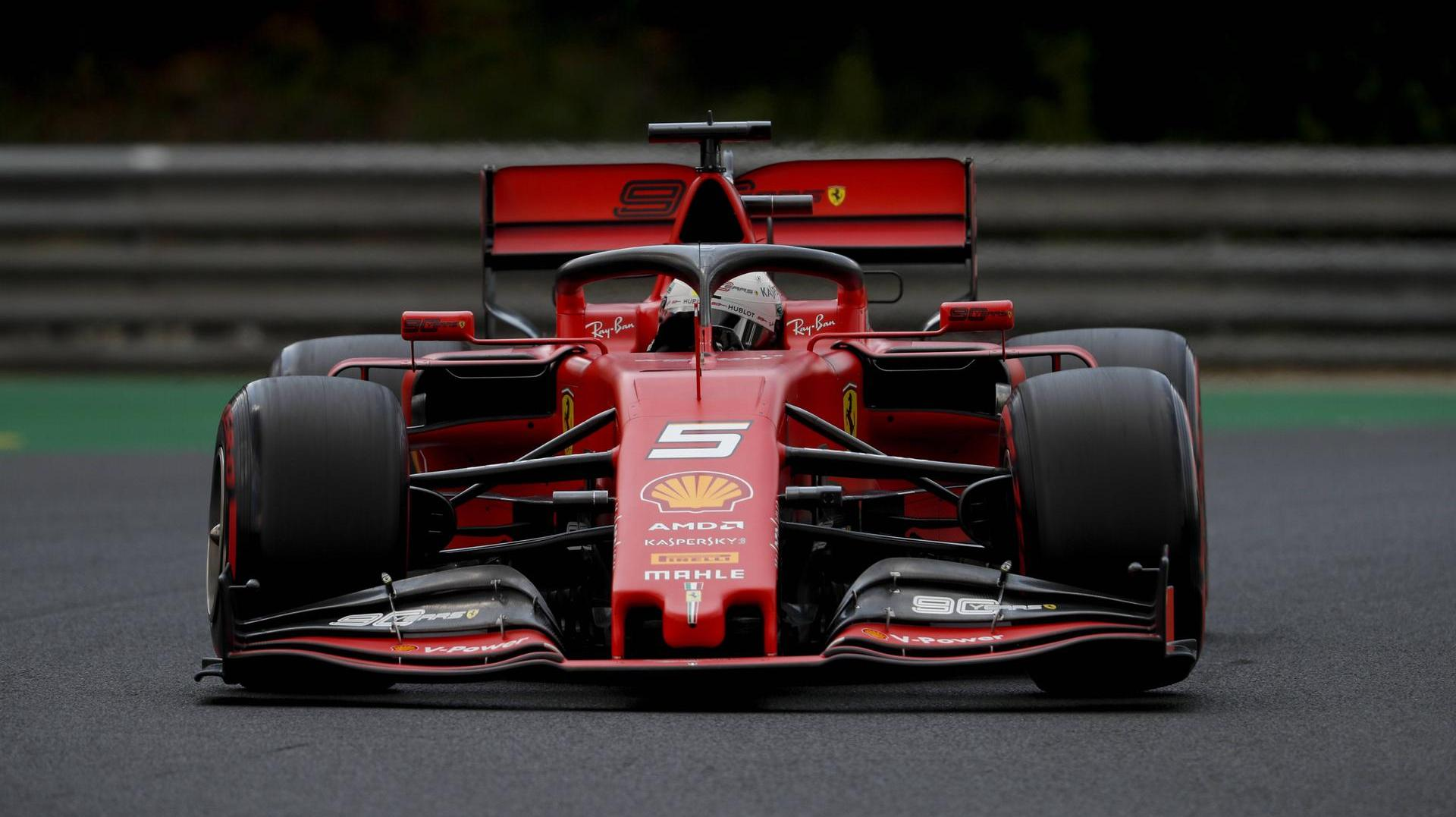 GP von Ungarn: 3. Training im Live-Ticker. 2019 Hungarian GP HUNGARORING HUNGARY AUGUST 03 Sebastian Vettel Ferrari SF90 during the Hungar (Quelle: )