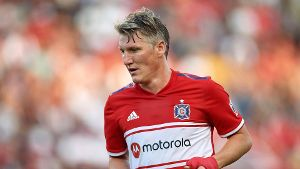 BRIDGEVIEW IL JULY 27 Chicago Fire midfielder Bastian Schweinsteiger 31 looks on in game actio