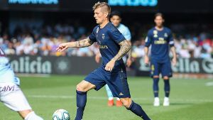 August 17 2019 Vigo Pontevedra Spain Kroos of Real Madrid in action during La Liga Spanish cham