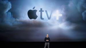 Tim Cook beim Apple-Event: Apple TV+ kommt im September.