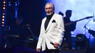 Czech famous singer Karel Gott performs during his concert with Boom Band of Jiri Dvorak at the O2 A