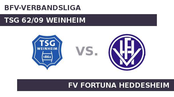 TSG 62/09 Weinheim gegen FV Fortuna Heddesheim: In der Fremde top. In der Fremde top (Quelle: Sportplatz Media)