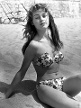 1555 in Cannes: Brigitte Bardot posiert am Strand.  (Quelle: imago images / Hollywood Photo Archive)
