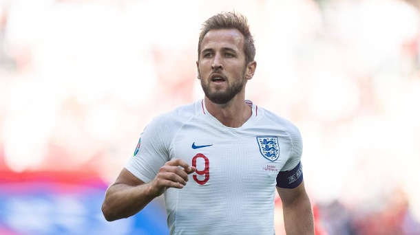 Harry Kane: Hebt er als Kapitän Englands ersten Pokal seit 1966 in die Luft? (Quelle: imago images/MB Media Solutions)