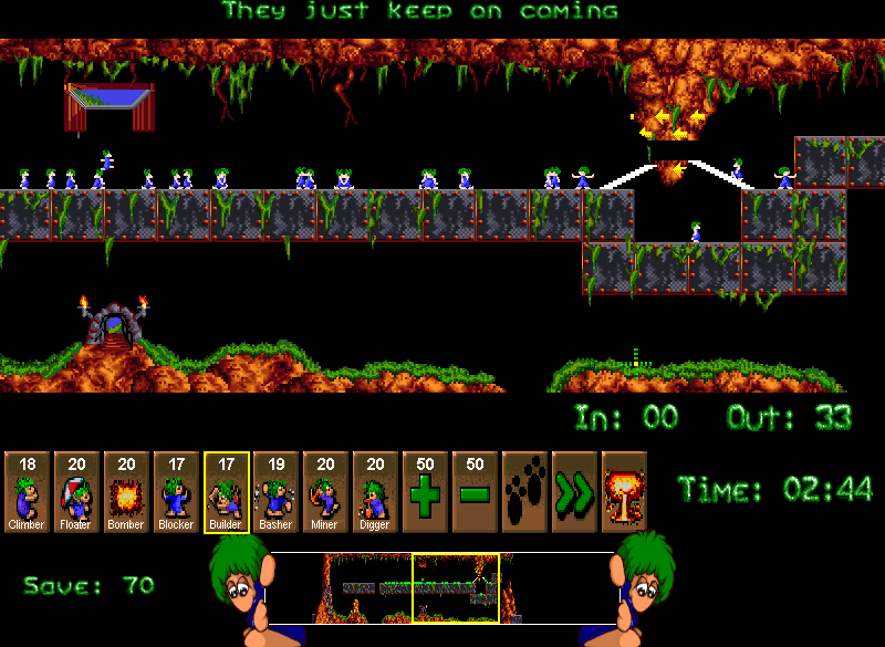 "Screenshot: So sah ""Lemmings"" im Jahr 2008 aus. (Quelle: archive.org)"