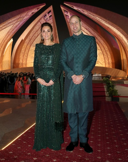 15. Oktober 2019: Das Paar war zu Gast bei einem Empfang des britischen Hochkommissars Thomas Drew. Das Event fand am pakistanischen Nationaldokument in Islamabad statt. (Quelle: Chris Jackson - Pool/Getty Images)