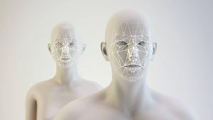 Androids and facial mapping illustration Androids and facial mapping illustration PUBLICATIONxINx