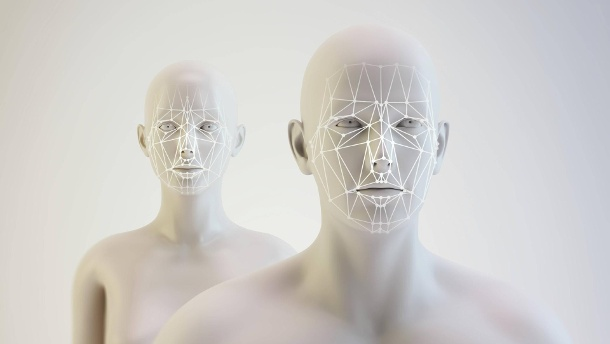 116.000 Euro Belohnung: Wer leiht Mensch-Roboter sein Gesicht?. Androids and facial mapping illustration Androids and facial mapping illustration PUBLICATIONxINx (Quelle: imago images/ANDRZEJ WOJCICKI/SCIENCE PHOTO LIBRAR)