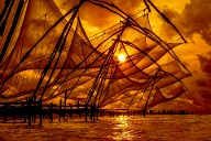 Chinese fishing net, Kochi, Kerala- India. (Quelle: Thinkstock by Getty-Images)